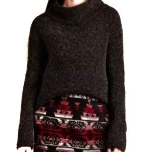 Anthropologie Moth wool alpaca mockneck sweater